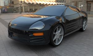 Mitsubishi Eclipse by truckless