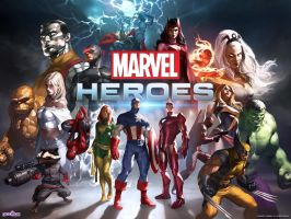 Marvel Heroes by EarthCenturion