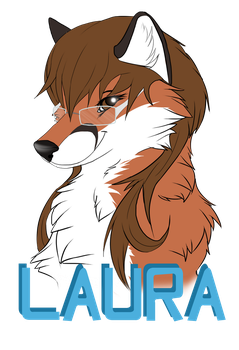 Laura Badge by Silenthowl7