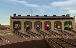 Tidmouth Pictures: The main Sheds by MarcoE424