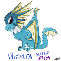 Vaporeon Dragon by zencat61
