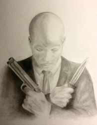 Agent 47 Self Portrait by faust3000