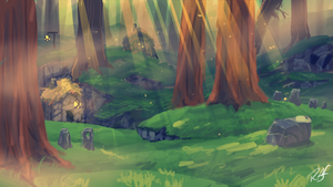 Rusken Concept Art - Foldun Forest by RubberRabbit2