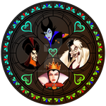 Villains stained glass