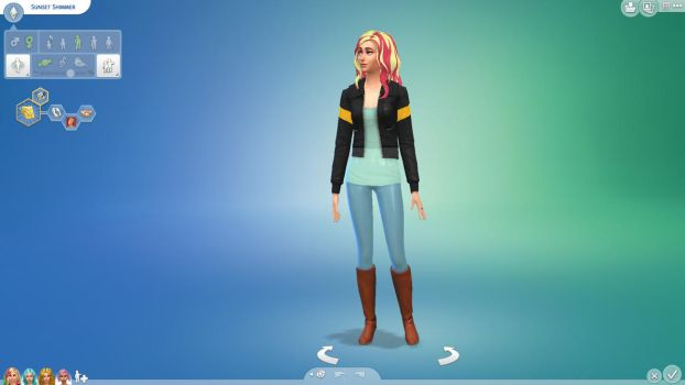 Sunset Shimmer (Sims 4) by Rain-Twister
