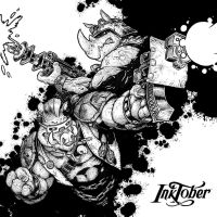 Inktober - Day Ten - Beebop and Rocksteady (2016) by CJEdwardsArt