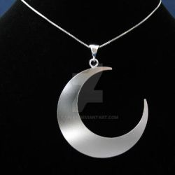 Sterling New Moon Pendant by camias