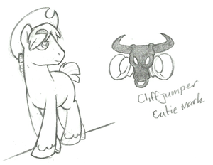 Sketch: Cliffjumper as a Pony by spud133