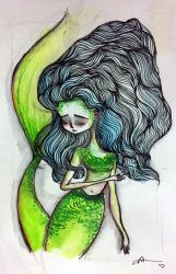Mermaid In Green And Blue by solocosmo