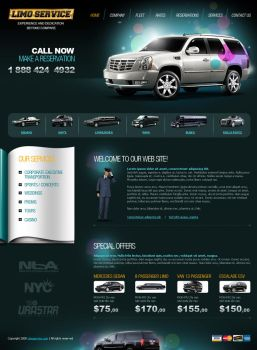 Scetch for limo company in NY by BraveDesign