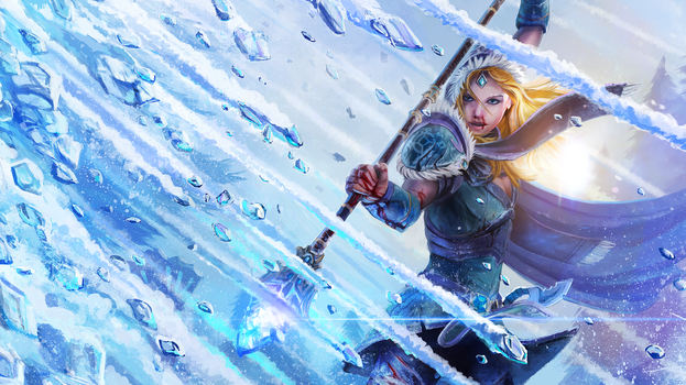 Carry Maiden - Dota2 Loading Screen by entroz