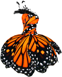 Butterfly Dress Png stock by DoloresMinette