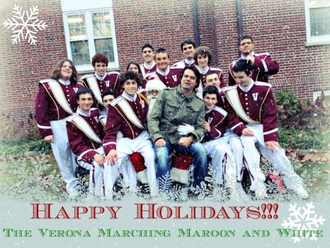 Happy Holidays from the Verona Marching Band! by SailorMoon190