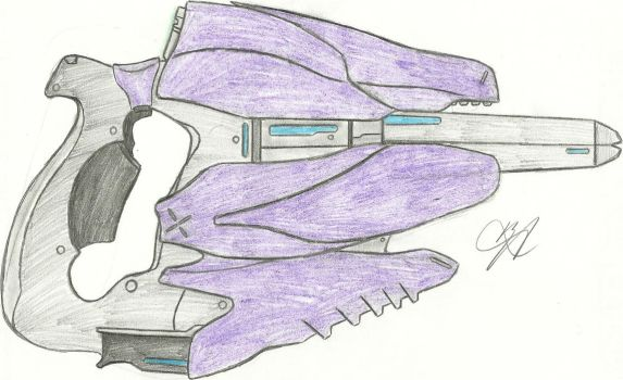 Covenant Storm Rifle Pistolized RD by Chigiri16