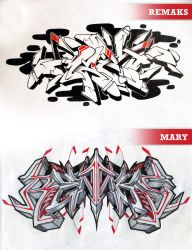 EXCHANGE MARY BY REMAKS / REMAKS BY MARY 2014 by Hucklemary