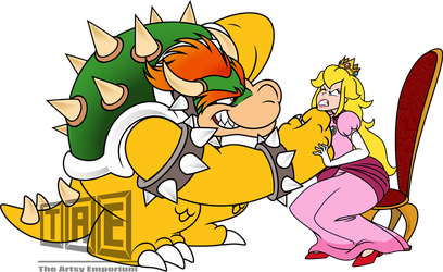 Bowser and Peach - Vector by TheArtsyEmporium