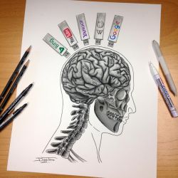 Instant Information Pencil Drawing by AtomiccircuS