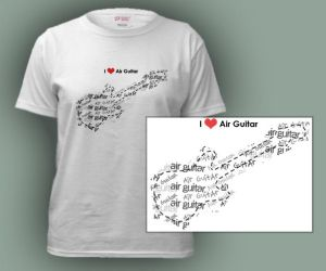 Air guitar love tee by numb-existence