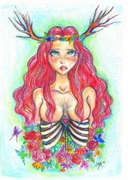 And From Her Bones Grew Flowers (2014) by Mirrei
