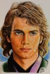 Color pencil drawing of Anakin Skywalker by chaseroflight