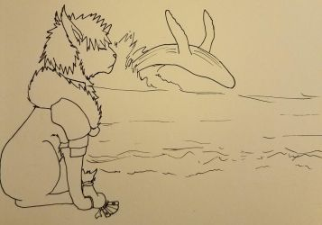 Whale: Starring Tobirama and Hasu by ThunderLordess