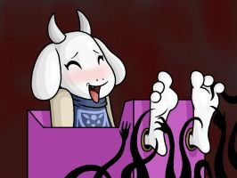 Toriel Tickled by Lord-Reckless