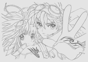 sakura and syaoran by vertical-horiizon