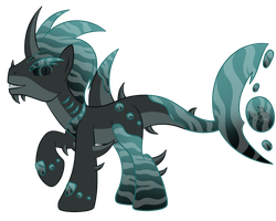 OC Ref: Demersus the Animal-Based Aqua Equos by SilverRomance