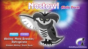 Commission - Hyperdragoonhx - Alolan Noctowl