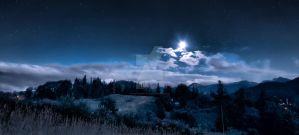 Mountains at night by photo4arteu