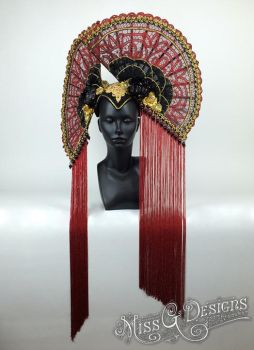 Red Fan Headdress now available on Etsy. by MissGdesigns