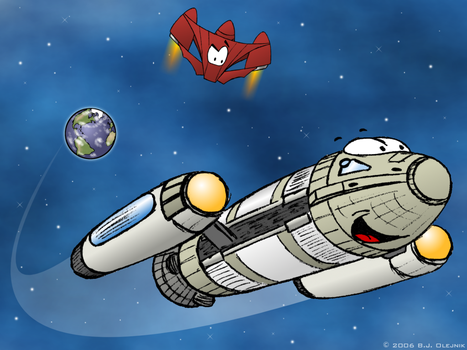 First Contact - toon style by BJ-O23
