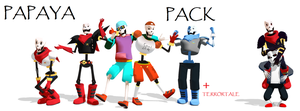 (MMD) Papyrus Pack +Terrortale by FlareDoesArt