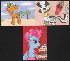My Little Pony sketchcards 3 by angelacapel
