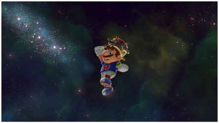 Football Playing King in Space with a Mustache by pinkythepink