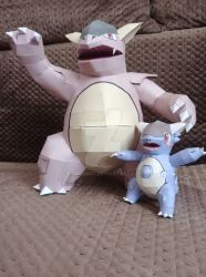 Mega Kangaskhan Papercraft by darcrash