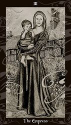 HP Tarot - 3 The Empress by Ellygator