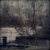 The Last Yellow House after the Bridge by daaram