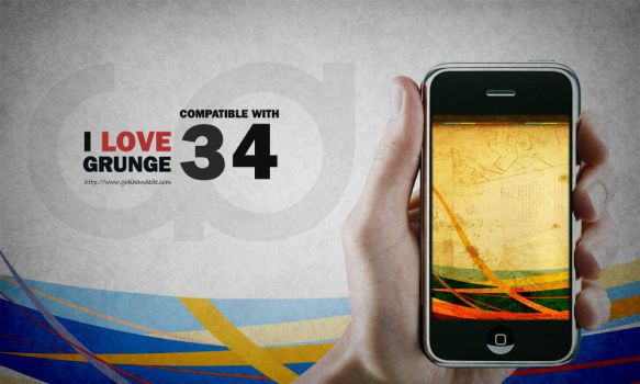 I-love Grunge Iphone Wallpaper by skykhan