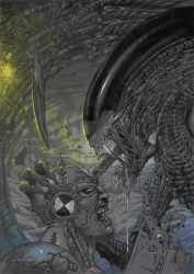 ALIEN vs MEAN MACHINE by m1llgato5
