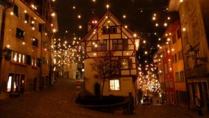 Swiss Christmas lights by Cadaska