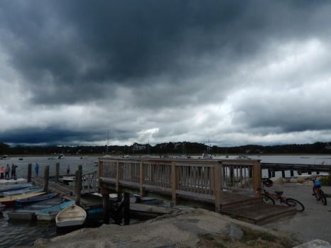 Storm Clouds over the Harbor by Phracker