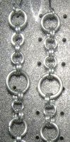 Chainmaille Earring 56 by Des804
