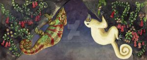 Decken and the Chameleon by Asenceana
