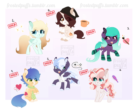 CLOSED MLP Adopts - Pack 1 by frostedpuffs