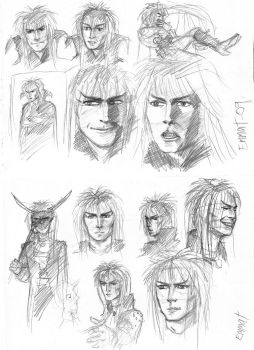 Jareth sketches by JesusIsMyHomie