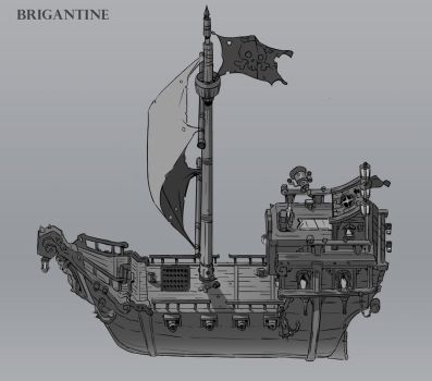 Pirate Ship Design by red--fox