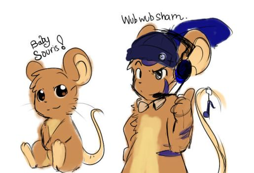 Baby souris and WubwubSham by Fierying