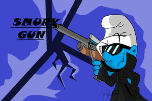 Smurfy Gun (old work) by RichHoboM3