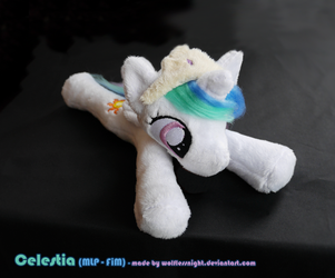 Celestia Beanie Plush by Wolflessnight